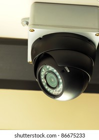 Security / surveillance camera concepts of safety, security and risk