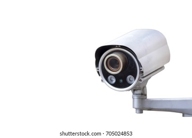 Security System Concept, CCTV - Camera on white background, Isolate
