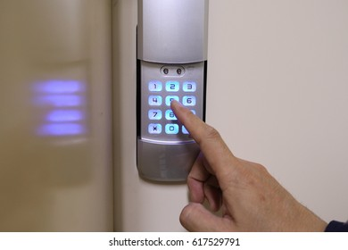 Security system, keypad door lock