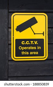 security television sign warning