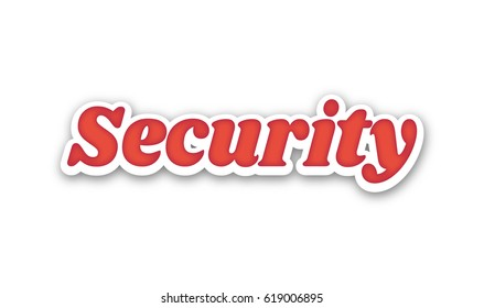 Security Text for Title or Headline. In 3D Fancy Fun and Futuristic style