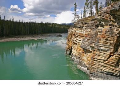 Sedimentary rock near Athabasca falls