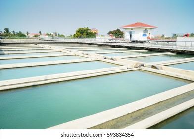 sedimentation unit of water supply treatment process