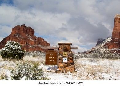 Sedona Arizona after a rare winter snowstorm