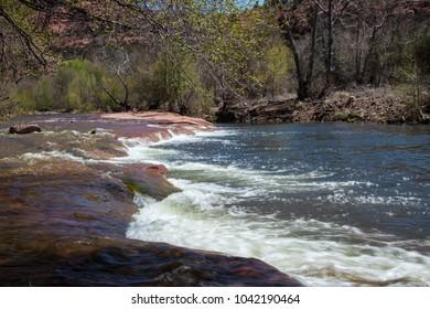 Sedona Arizona high desert river, creek, water flowing