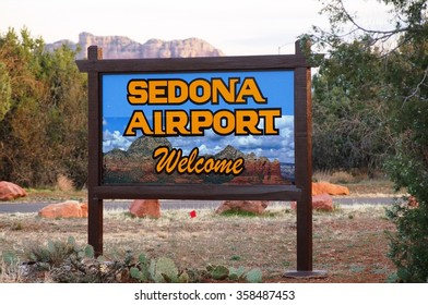 SEDONA, AZ - 16 FEBRUARY 2014- The Sedona Airport (SDX), located in Yavapai County in Sedona, AZ. It has one runway and no control tower.