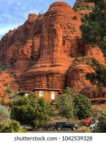 Sedona, AZ -March 9: Chapel of the Holy Cross in Sedona, AZ on March 9,2018. Sedona is one of the most famous and beautiful towns in Arizona.