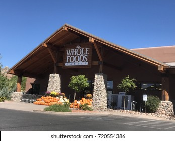 Sedona,AZ- September 23: Whole Foods Market in Sedona, AZ on September 23,2017. Whole Foods Market is ready for Halloween season