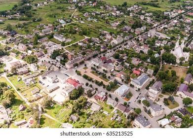 SEDUVA, LITHUANIA - JULY 23, 2014: Seduva, Lithuania. Small Town in Siauliai District.