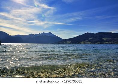 See Berge Sonne Wasser Blau - Shutterstock ID 1970736881
