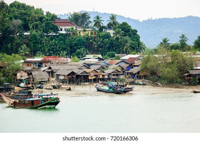 See local lives of cities along river and beach in Myanmar