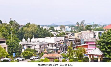 See Ranong City View From Rattana Rangsan Palace, Ranong, Thailand
