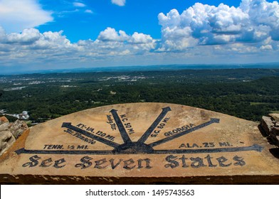 See seven states sign in Rock City- North Georgia.