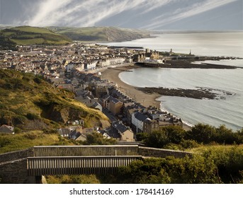 To see this view of Aberystwyth and its position on the Welsh coast go to the top of Costitution Hill. This can be accomplished by taking a trip on the cliff railway.