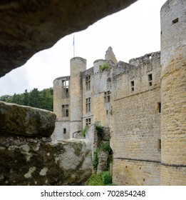 See through of the ruins of Beaufort castle