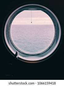 See view from the ship, round window