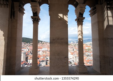 See view through the window of Zvonik svetog Duji