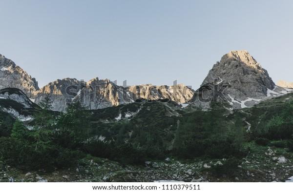 Seebensee lake in Austrian Zugspitze Alps