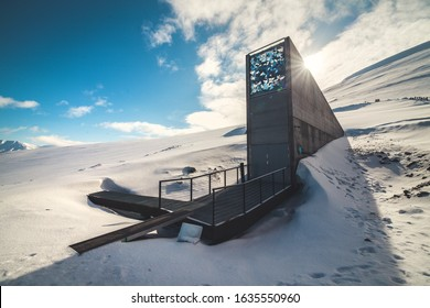 The Seed Vault in the Arctic province of Norway, Svalbard.