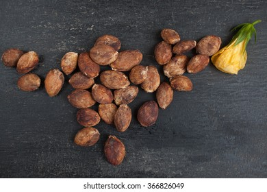 Seeds of cupuacu, related plant to cocoa