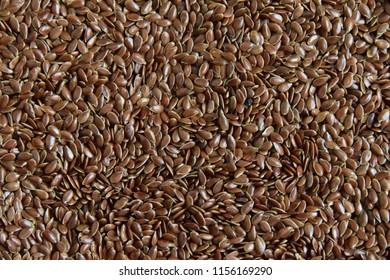 Seeds flax brown