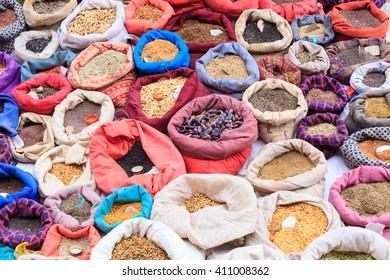 Seeds for sale, Main Barzaar, Leh, Ladakh, India