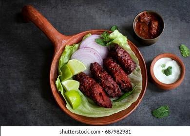 Seekh kabab - Pakistani spicy grilled ground meat skewers
