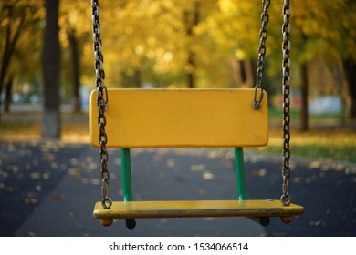 Seesaw in the Autumn background