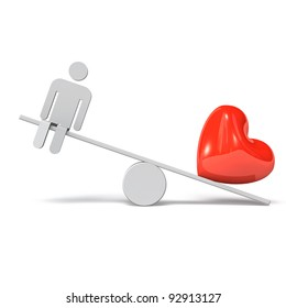 Seesaw Human And Heart