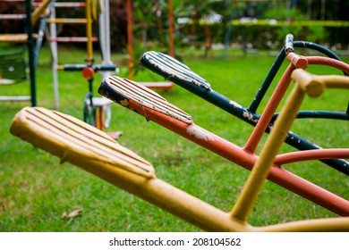 seesaw in playground