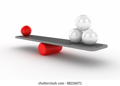 Seesaw with Spheres