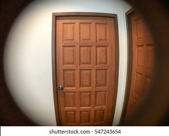 Elegant See Through The Peephole Of Door For Security