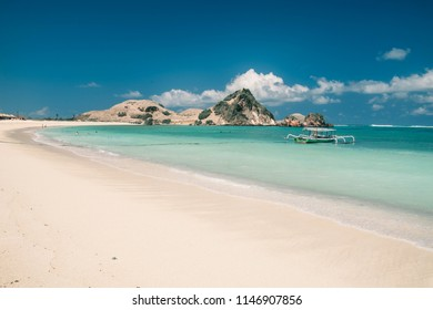 seger beach at kuta, Lombok island Indonesia
