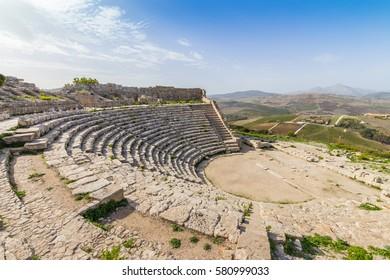 Segesta Amphitheatre Sicily Italy