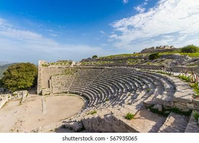 Segesta ancient theatre Sicily Italy