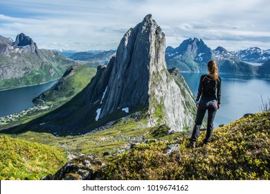 Segla is a iconic mountain on the north Norwegian island of Senja. The hiking track on to Segla starts in Fjordgård. It is truly worth visiting. What a rock it is!