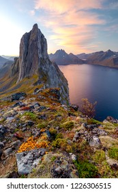 Segla, the most famouse mountain peak on Senja Island, northern Norway