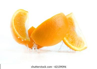 segment orange fallen