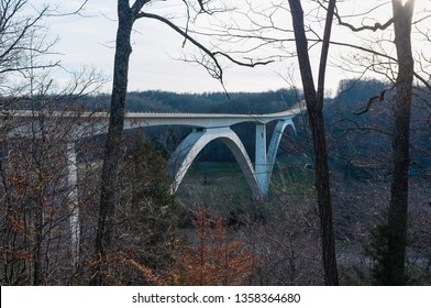 A segmentally constructed concrete double arch bridge in Franklin, Tennessee