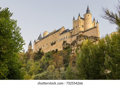 Segovia, Spain. The Alcazar of Segovia. Castilla y Leon, city in the autonomous region of Castile and León.In 1985 the old city of Segovia and its Aqueduct were declared World Heritage Sites by UNESCO