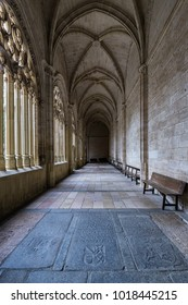 SEGOVIA. SPAIN. - October 17, 2017: Cloister in the Cathedral of Segovia.