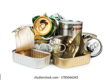 Residuos de metales segregados listos para el reciclado