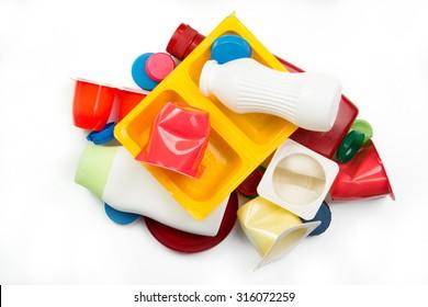Segregated plastic garbage