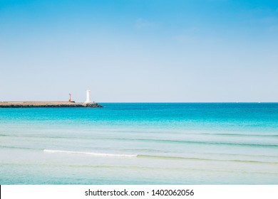 Sehwa Beach emerald sea in Jeju Island, Korea