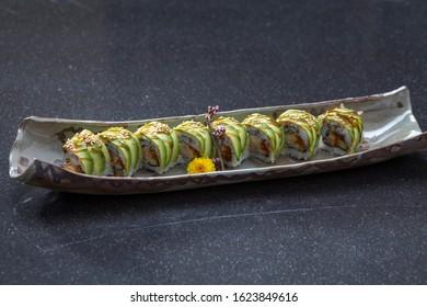 Sei ryu maki roll a tasty food from Japanese cuisine