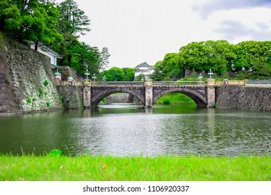 Seimon Ishibashi (Nijubashi) Bridge, the Tokyo's most famous bridge at the Imperial Palace in Tokyo, Japan