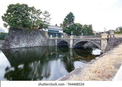 Seimon Ishibashi stone bridge of main gate, Doubled bridge at Tokyo Imperial Palace