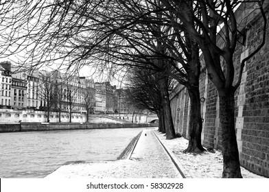 Seine embankment in Paris