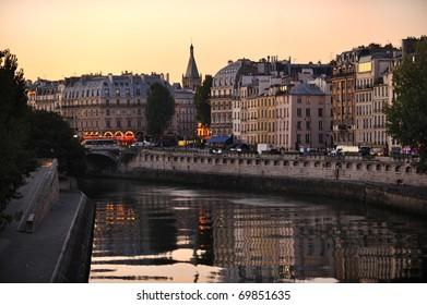 Seine embankment, Paris, France