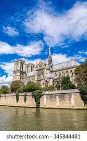 Seine and Notre Dame de Paris is the one of the most famous symbols of Paris